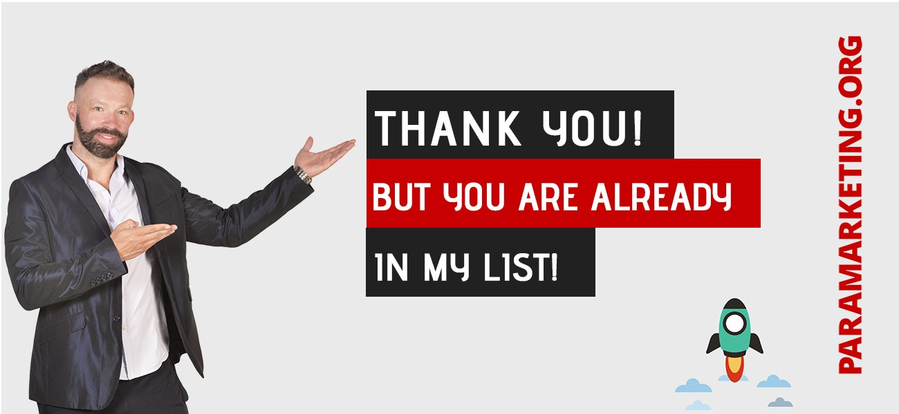 YOU-ARE ALREADY IN MY LIST